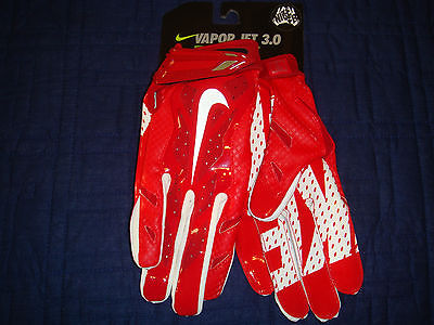 NIKE VAPOR JET 3.0 FOOTBALL GLOVES ADVANCED SKILL GLOVE WITH MAGNIGRIP RED MEDIU