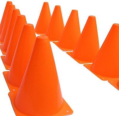 Fun Express Set of 12 Sport Training Traffic Orange Cones Soccer Cone @daniel
