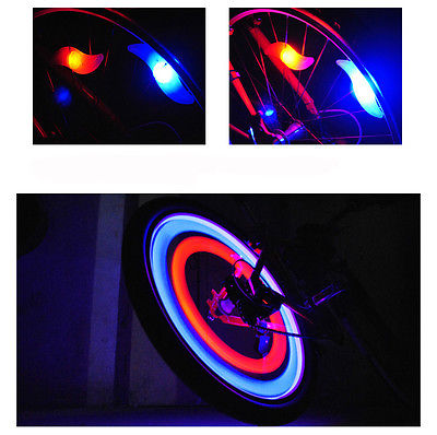 4 pcs Cycling Bike Bicycle Silicone Spoke Wire Tyre Light LED Lamp Hot Wheels