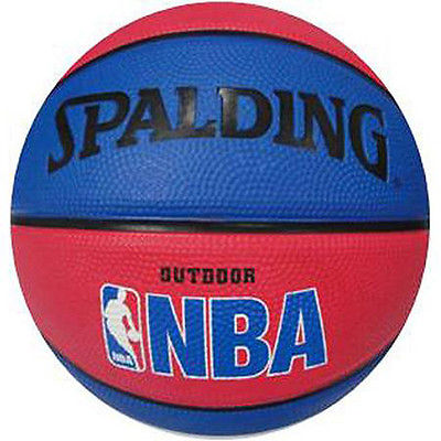 "Spalding NBA 7"" Mini Ball Outdoor Basketball Red / Blue"