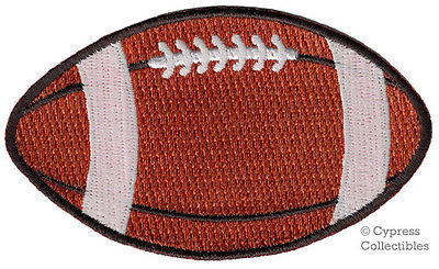 EMBROIDERED FOOTBALL IRON-ON PATCH APPLIQUE TEAM EMBLEM new PIGSKIN GRIDIRON