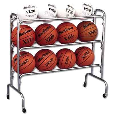 Basketball Rack Storage Ball Sports Wide Body Cart Soccer Team Portable Duty