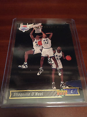 Shaquille O'Neal 1992-93 Upper Deck Trade Card RC (Orlando Magic)