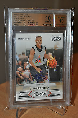 2009-10 Stephen Curry Bonus Shots Black Signatures Auto RC /25 BGS 10 Pop1 = 1/1